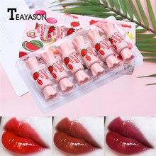 Hot 6pcs/Set Candy Shape Lip Gloss Makeup Glaze Long Lasting Water  Moisturizing Liquid Lipstick