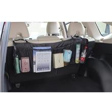 Folding Luggage Bag Car Trunk Organizer Seat Back Storage Mesh Zakka Bags Auto 95cm*32cm Multipurpose Cargo