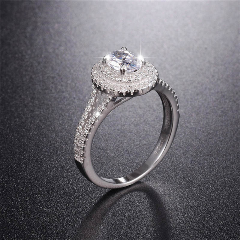 Hot Sale Real 925 Sterling Silver Wedding Ring Finger Luxury Cushion cut SONA diamond Jewelry For Women Engagement Rings Anel luxury jewelry round cut sona diamond engagement ring in sterling silver