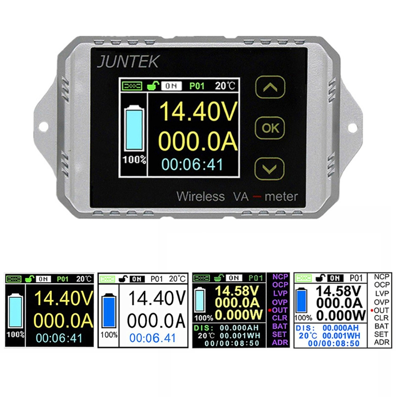 DC 400 V 300A Wireless Bi-direzionale Voltmetro Amperometro Capacità di Alimentazione Volt Meter #0615