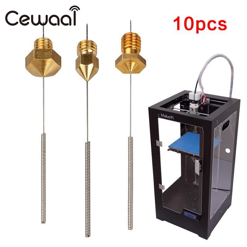 CEWAAL 10Pcs Set nozzle cleaning drill Flex Drill Bits Parts For 3D Printer Nozzle Cleaning Lengthened Reinforced