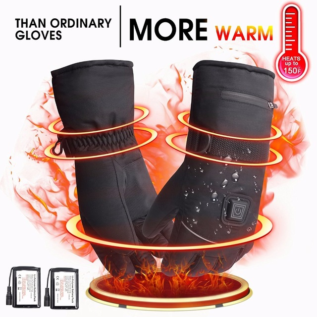 цена 7.4V Winter Warm Waterproof Electric Heated Gloves. 2200mAh Rechargeable Battery Powered Heated Gloves