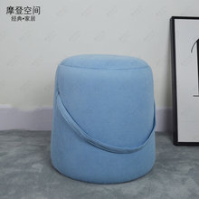 купить 2019 Popular Modern Chair Sofa Ottoman/portable stool/Footstool With 4Colors Hi-Q Linen Cover/Living roomChair/shoe ottoman онлайн