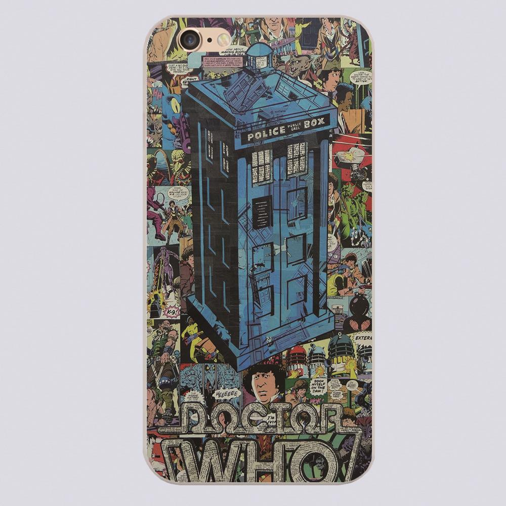 New arrived Doctor Who TARDIS COIMCS Design white skin phone cover cases for iphone 4 5 5c 5s 6 6s 6plus