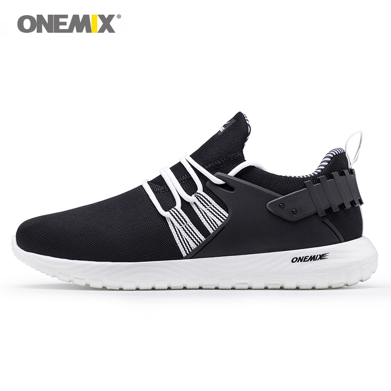 Onemix sport shoe for running men light weight breathable mesh walk sneaker women fitness black white simple for love size 36-45 plus size casual women shoe mesh breathable sneaker female light summer couple shoes free shipping gold silver black huarche
