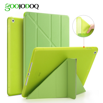 For iPad 2 3 4 Case for iPad Mini 4 3 2 1 5 2019 Case Silicone Soft Back Multi-fold  Leather Smart Cover for iPad Mini 4 Case