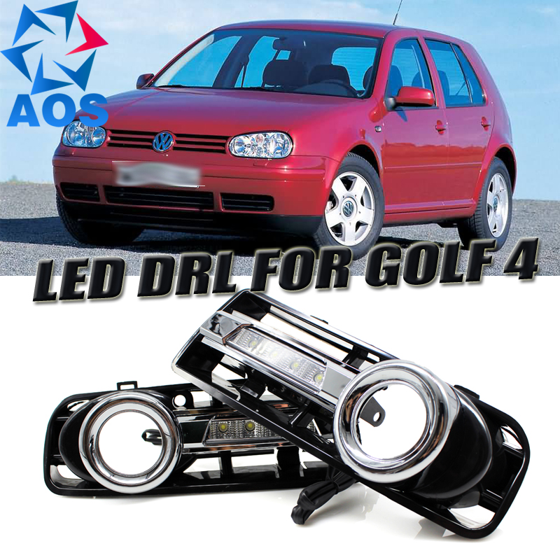 2PCs/set car styling LED DRL car daylight Waterproof Daytime Running Lights set for VW GOLF 4 1998 1999 2000 2001