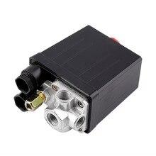 Alta Calidad 1 Unid Heavy Duty Compresor de Aire de Presión Interruptor de la Válvula de Control 90 PSI-120 PSI Compresor de Aire Del Interruptor Control