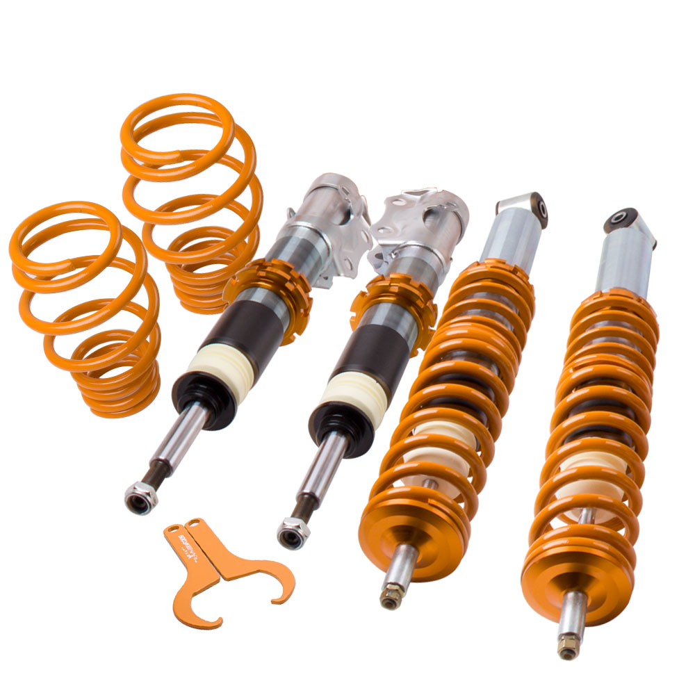 Full Shock kit For VW Polo Mk3 6N2 1999 2000 2001 2002 2003 LOWERING Coilovers 1.0L 1.4L 1.6L 16v 1.4TDi GTi fortune auto tercel starlet ep82 ep91 1990 1999 500 street series coilovers