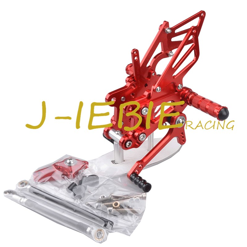 CNC Racing Rearset Adjustable Rear Sets Foot pegs Fit For Honda CBR600RR CBR600 RR F5 2007-2016 RED titanium cnc aluminum racing adjustable rearset foot pegs rear sets for yamaha mt 07 fz 07 mt07 fz07 2013 2014 2015 2016
