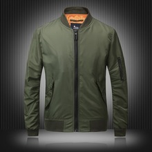 EU Fashion Designer Brand Men Casual Jackets Solid Men Bomber Jacket Baseball Outerwear Coats Black Red Army-green M-4XL цена 2017