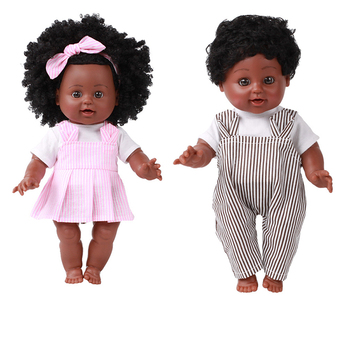 35CM African Black Doll Handmade Silicone Vinyl Adorable Lifelike Toddler Reborn Baby Doll Kids Toys Gifts Boy Girl 2015 new design 24inch reborn toddler baby doll rooted human hair fridolin lifelike sweet girl real gentle touch
