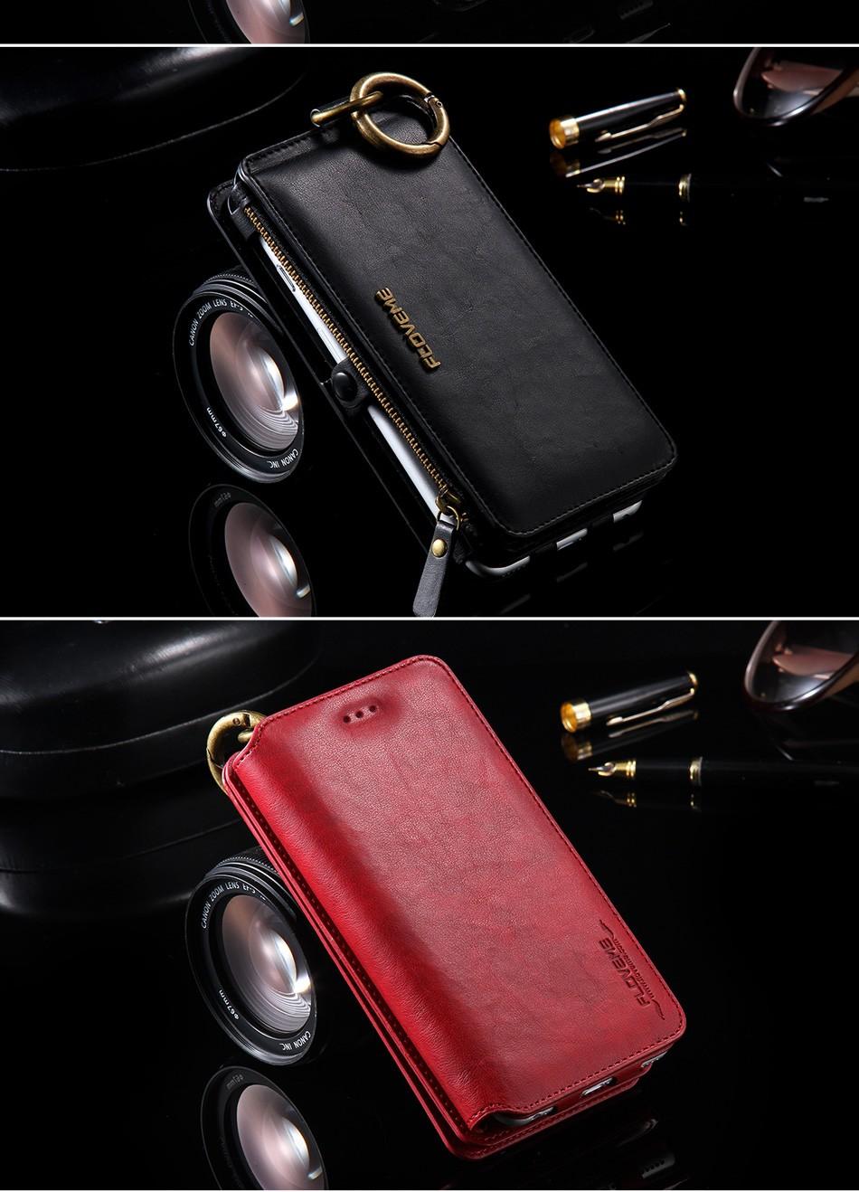 Floveme oryginalny retro skóra telefon case for iphone 6s 6 4.7 dla iphone6s iphone 6s przypadki metalowy pierścień coque pokrowce na iphone 7 13