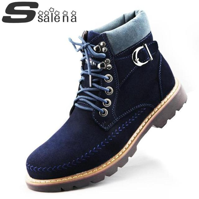 Men Winter Boots Thermal Cotton Padded Shoes HighTop Oxford Shoes Men Tooling Boots Size 36-43 B051