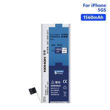 NOHON Lithium Polymer Battery High Quality Batteries For Replacement Apple iPhone 6S 6 7 5S 5 Internal Phone Bateria Free Tools