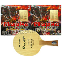 Galaxy T-11+ Table Tennis Blade With 2x Bomb Mopha J-Tension Professional Rubber With Sponge for a Racket FL(China)