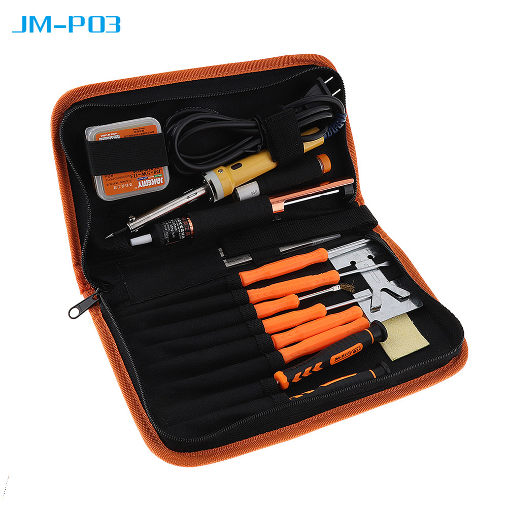 JM-P03 16 In 1 Multipurpose Electric Soldering Iron Welding Hot-Gun Repair Tool with Tweezers Tin Wire for DIY Hand Tool Set 110v 220v 60w adjustable electric temperature gun welding soldering iron tool with tin wire