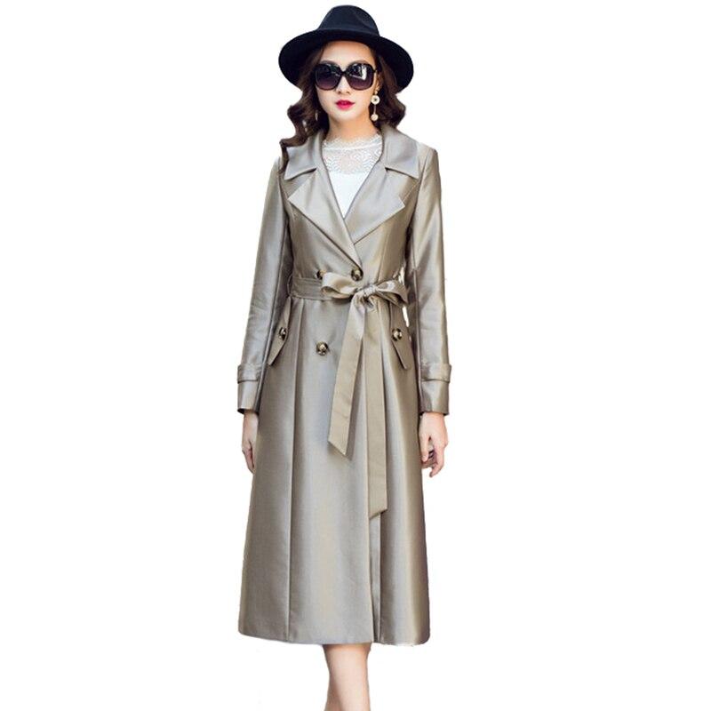 Hohe Qualität Lange Trenchcoat Frauen 2019 Mode Frühling Herbst Zweireiher Windjacke Weibliche Casual Tops Plus Größe A2672 Frauen Kleidung & Zubehör