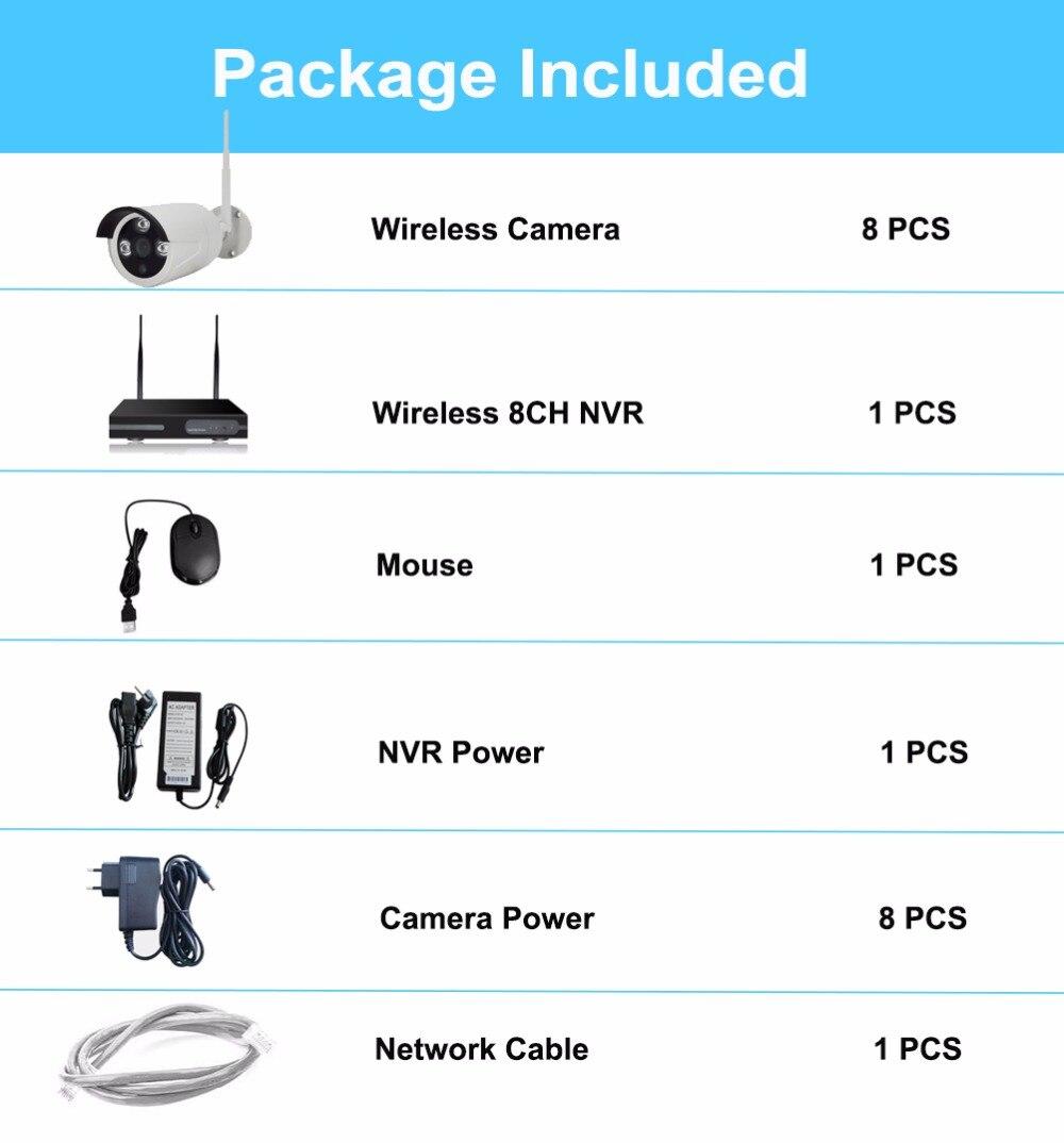 FLASH SALE] 8CH 1080P Wireless NVR Kit Wifi CCTV Camera