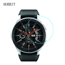 Tempered Glass Screen Protector For Samsung Galaxy Watch 46mm Anti-Scratch Smartwatch 0.3MM 2.5D 9H Clear Glass Film 2pcs pack tempered glass screen protector watch screen protective films for samsung galaxy watch 42 46mm