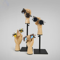 Great Quality Wood Hand Mannequin Dummy Wood Grain Joint Hand For Watch Jewelry Sunglasses Bag Clothing