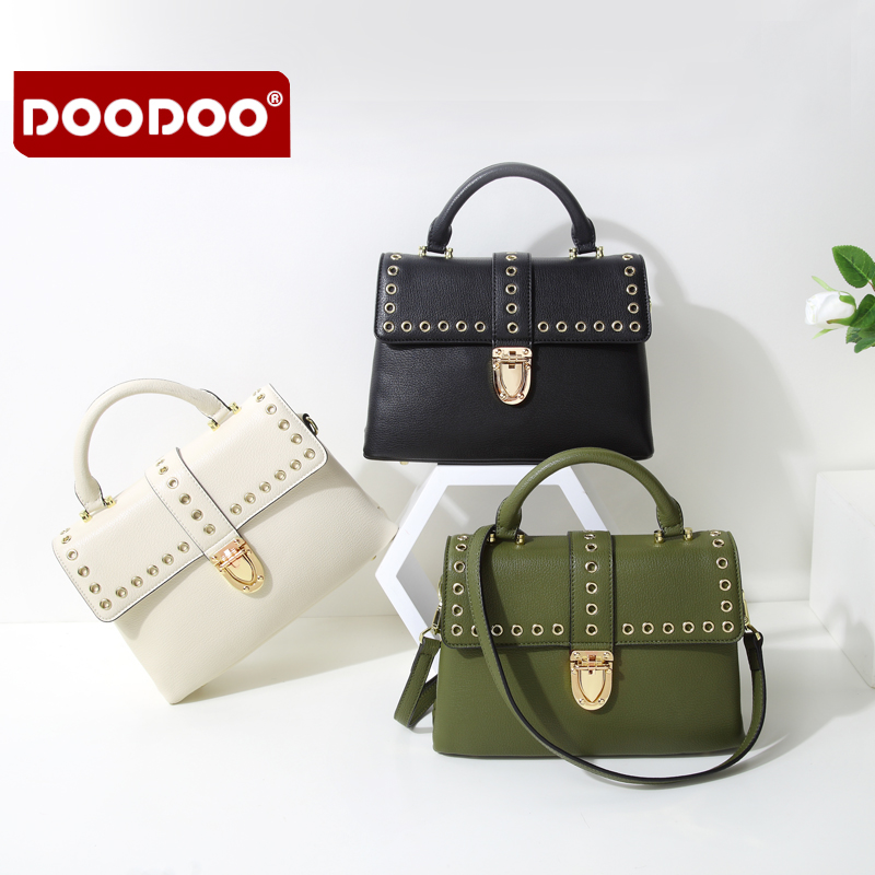 DOODOO Women PU Leather Fashion Messenger Bag Rivet Casual Cover Girl Shoulder Crossbody Bag Famous Brand Design Bolsa D7385DOODOO Women PU Leather Fashion Messenger Bag Rivet Casual Cover Girl Shoulder Crossbody Bag Famous Brand Design Bolsa D7385