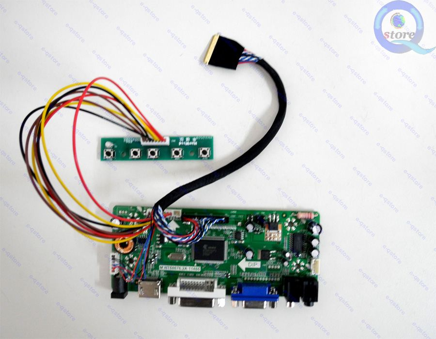 Kit For LTN156HT01  HDMI+DVI+VGA LCD Lvds Converter Controller Driver Board