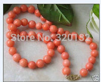 Beautiful Details 8mm Natural Jewelry Tibet Coral Necklace 18 AAA Unusual Fine Bridal Silver Hook NECKLACS