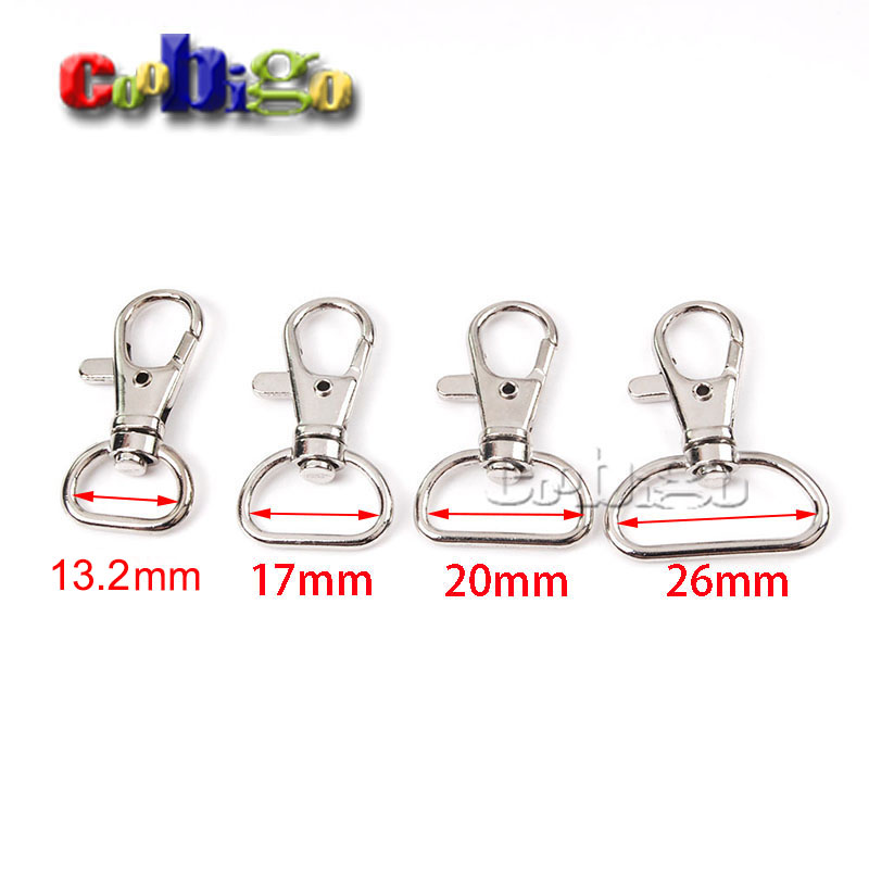 500pcs Pack 1 2 5 8 3 4 1 Metal Lobster Clasps Snap Hooks Rotary Swivel