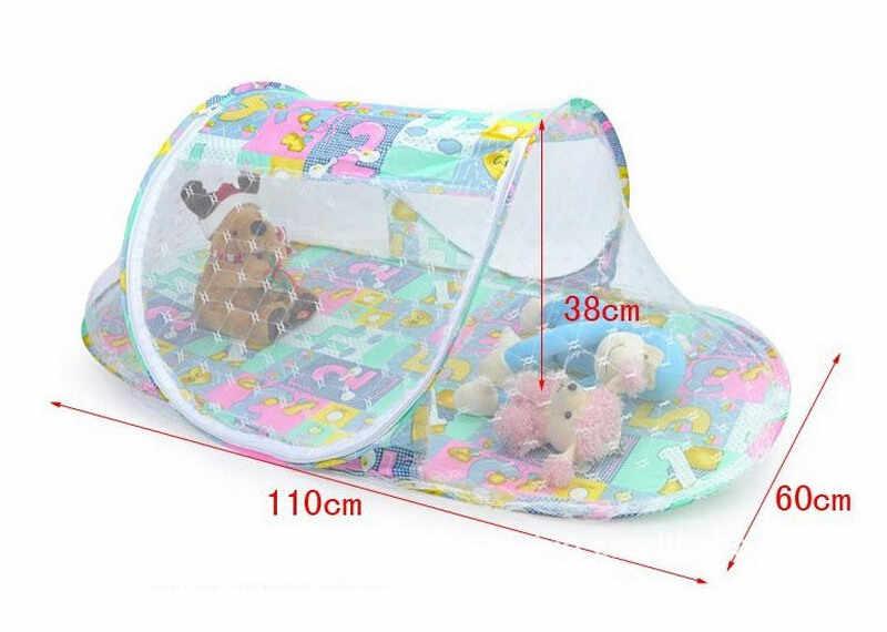 شبكة ناموسية للأطفال باللون الوردي والأزرق ، سرير سرير للأطفال ، شبكة ناموسية للبعوض ، ناموسية محمولة ، شبكة سرير للأطفال حديثي الولادة