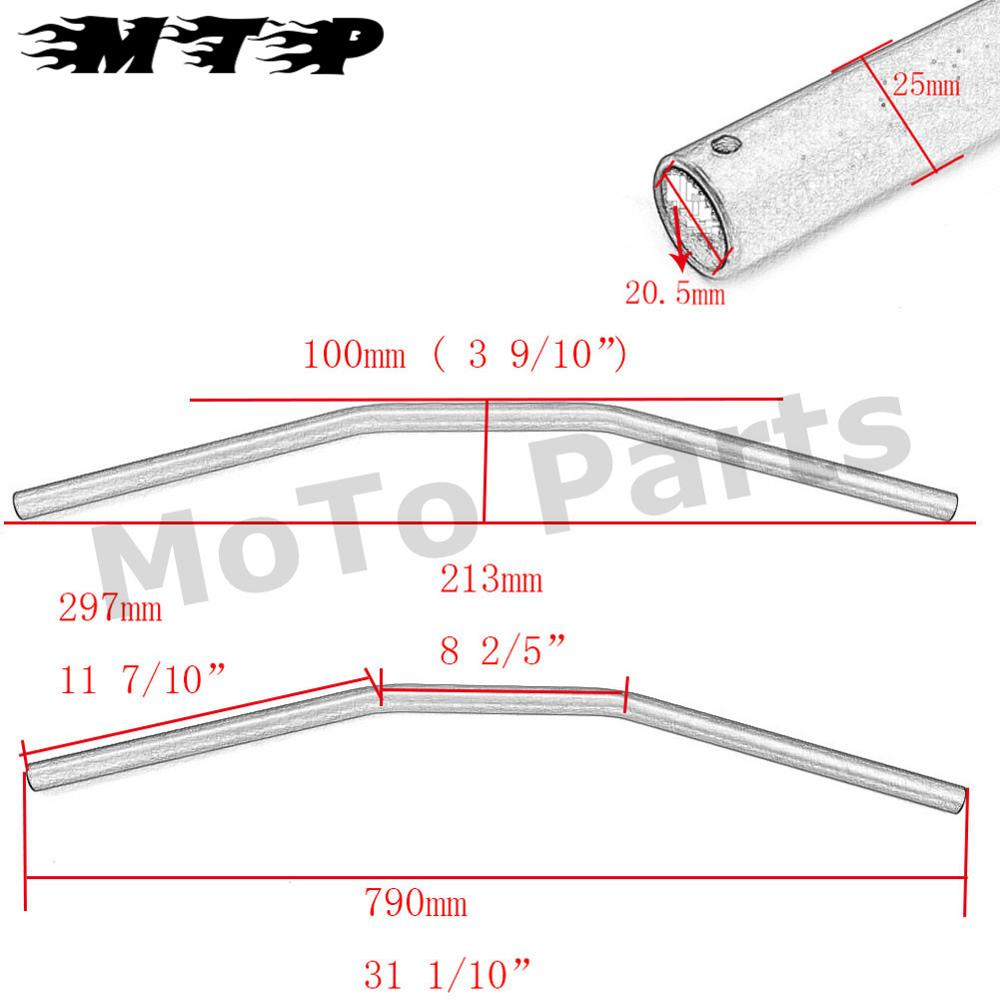 Motorcycle 25mm Drag Handle Bar For Honda Rebel Cmx250c 450 Shadow Vt750dc Wiring Diagram Easy To Installinstallation Instructions Not Included