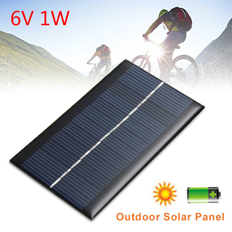 <font><b>6V</b></font> <font><b>1W</b></font> <font><b>Solar</b></font> <font><b>Panel</b></font> Standard Epoxy Polycrystalline Silicon Mini DIY Module <font><b>Panel</b></font> System for Battery Power Charge Module <font><b>Solar</b></font> Cell image