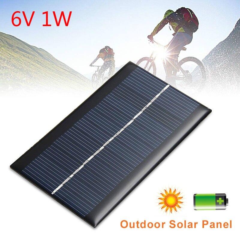 6 В, 1 Вт, солнечная панель, стандартная фотопанель, Кремниевая мини-панель для самостоятельной сборки, для фотомодуля, солнечная батарея