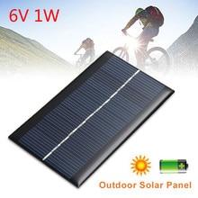 6 v 1 w 태양 전지 패널 표준 에폭시 다결정 실리콘 미니 diy 모듈 패널 시스템 배터리 전원 충전 모듈 태양 전지