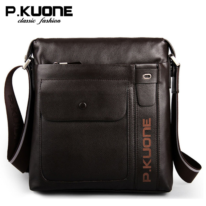 Luxury first layer cowhide men bag genuine leather bolsos crossbody male shoulder bags casual messenger bags brand bolsas 2016 new fashion men s messenger bags 100% genuine leather shoulder bags famous brand first layer cowhide crossbody bags