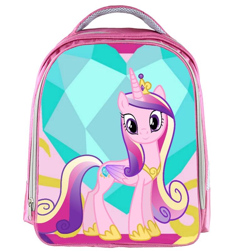 13inch Pink Unicorn Backpack School Bags Pegasus Pony Princess Printed School Backpack Girls Bookbag Children Gift Customized