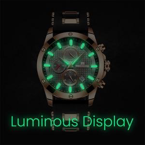 Image 4 - MEGALITH Fashion Chronograph Men Watches Date Silicone Strap Sports Quartz Watch Men Luminous Waterproof Clock Relogio Masculino