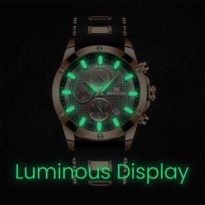 Image 4 - MEGALITH di Modo Orologi da Uomo Cronografo Data Sport Cinturino In Silicone Uomini Della Vigilanza Del Quarzo Luminoso Orologio Impermeabile Relogio Masculino