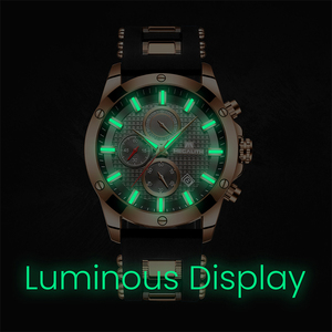 Image 4 - MEGALITH אופנה הכרונוגרף גברים שעונים תאריך סיליקון רצועת ספורט קוורץ שעון גברים זוהר עמיד למים שעון Relogio Masculino