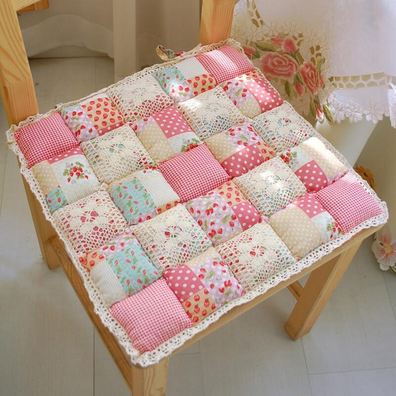 40X40cm Flower Style Square Cotton Seat Cushion Sofa Car Mat Home Kitchen Chair Sit Pad Mat Pillows Home Decor