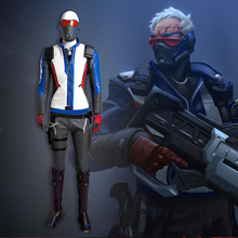 MLYX Men's Soldier 76 Cosplay Costume Game Cos Deluxe Outfit for Adult Halloween Cosplay Set