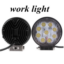 hot sell 4inch 27W LED work light lamp round Flood beam   Off Road fog light ATV Tractor Train Bus Boat 4x4ATV