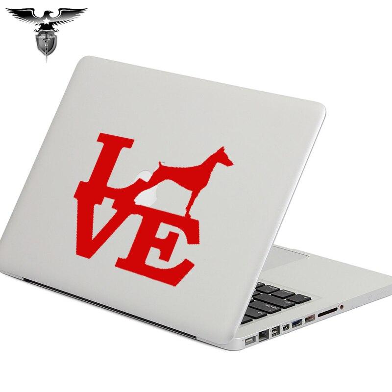 EmpireYing 3 Tamanho Cores Chegada 8 Doberman Pinscher Amor Etiqueta Do Carro Janela Da Raça Do Cão Coleira Coleira Osso Adesivos de Parede Decalque presentes