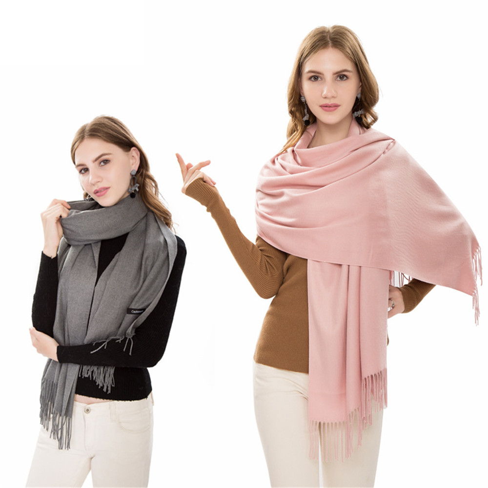 classic summer scarves for women scarves and wraps fashion solid female hijab stole pashmina winter cashmere scarves foulard