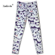 CANDICE ELSA new sexy women leggings fashion lovely panda digital printed leggins capris soft fitness plus size drop shipping(China)