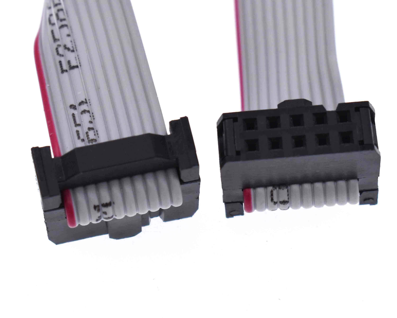 70CM 10 Pin USB ASP ISP JTAG AVR wire 10P IDC Flat Ribbon DATA Cable 2.54mm New