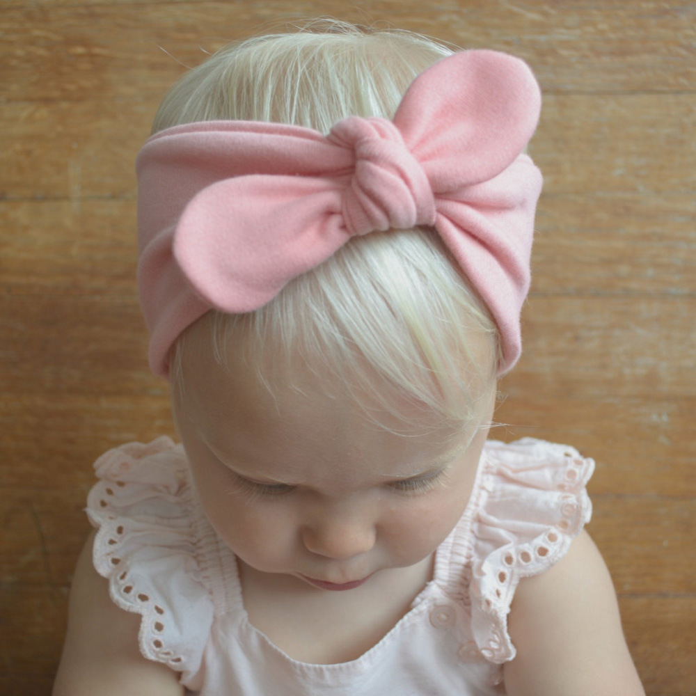 Bebe Children Headband Sweet Girls Bow Tie Hairband Kids Turban Knot Rabbit Cotton Rabbit Ear Bow Head Wrap Hair Accessories bebe girl turban headband cotton bow knot kids headwrap hair bow hairband retro children elastic headwear hair accessories page 2