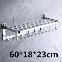 Stainless Steel Bathroom Shelves Two Layer Towel Bathroom Towel Holder Bathroom Organizer Wall mounted Towel Rack Hardware Acces