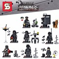 Swat Police Falcon Commandos Counter Strike Weapon Base BattleField Marine Corp   Building Blocks Toys