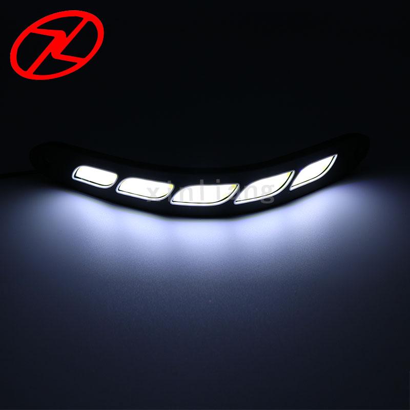 2PCS Saf Ağ LED Gündüz işləyən Yüngül Elastik DRL Suya - Avtomobil işıqları - Fotoqrafiya 5